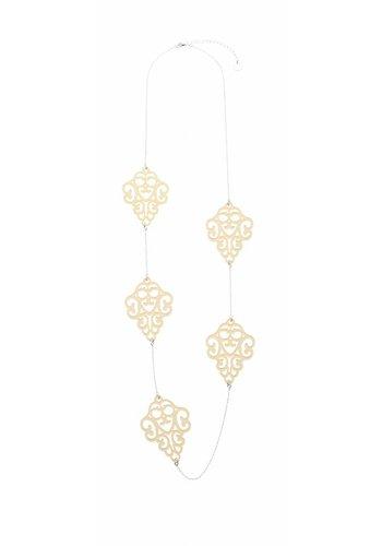 biba Experience Silberfarbig/Gelb Halskette