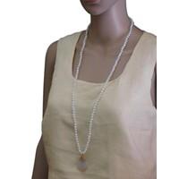 thumb-Goldfarbige/Weiße Halskette-2