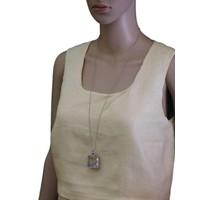 thumb-Mehrfarbig/Silberfarbig Halskette Anhänger mit Kristall Steinen-2
