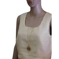thumb-Goldfarbig, Grün, Orange Halskette mit Trockenblumen-2