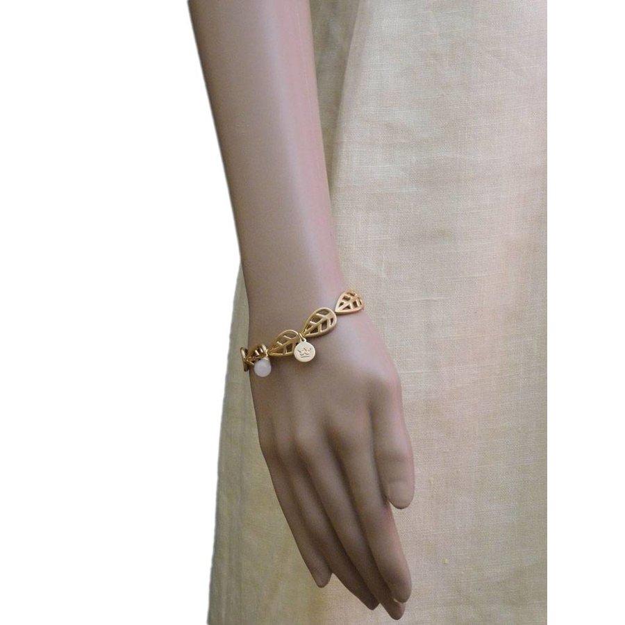 Vergoldet/Rosé Gummizug Aventurine Armband-2