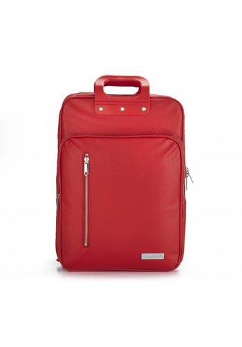 Bombata Roter Vinyl City Laptop Rucksack