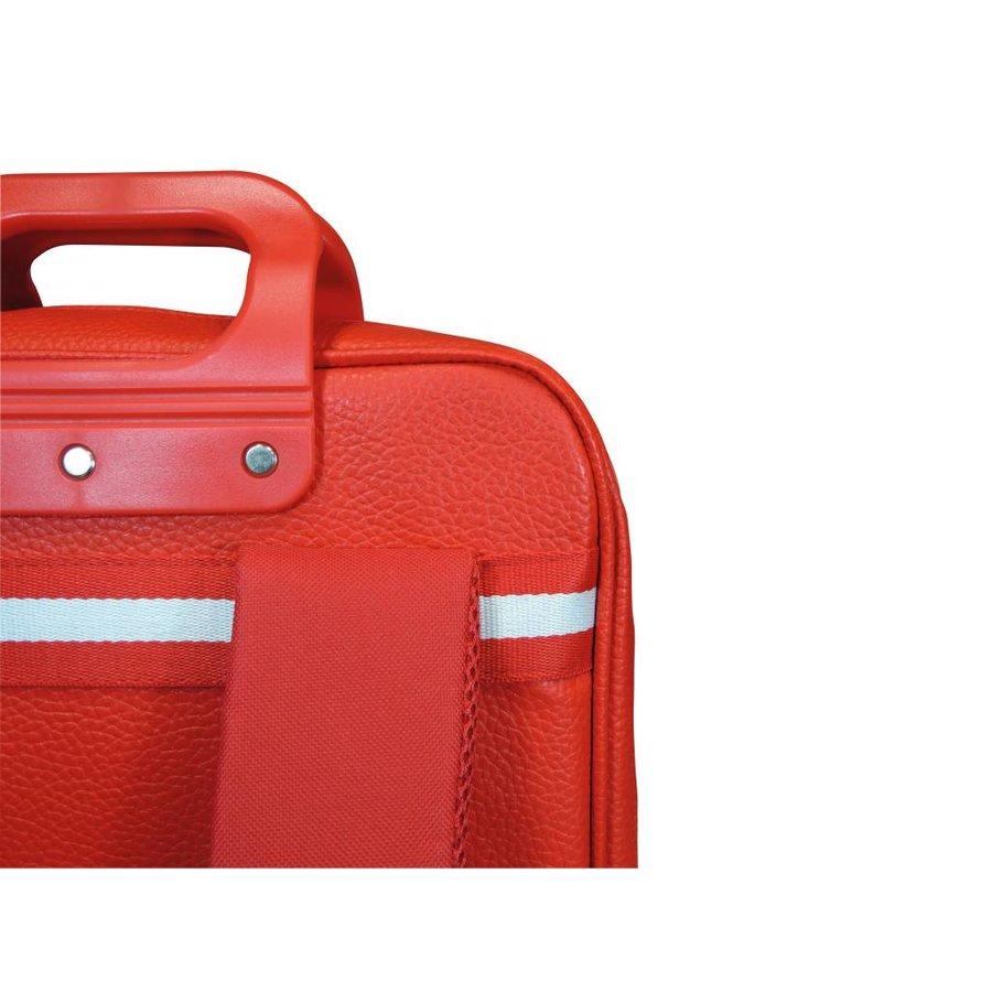 Roter Vinyl City Laptop Rucksack-3