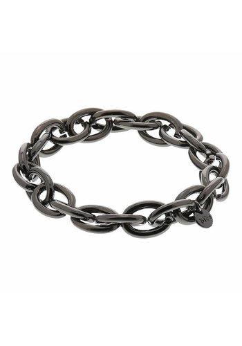 biba Experience Platinfarbig (Schwarz) Gummizug Armband