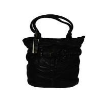 thumb-Schwarze Geflochten Leder Handtasche-1