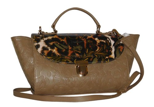 Versace Jeans Große Braune Kunstleder Handtasche