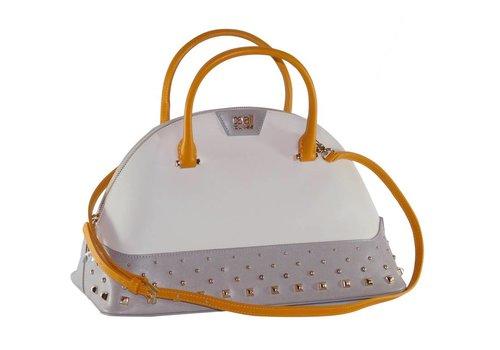 Cavalli Class Große Weiß/Graue Leder Handtasche