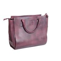 thumb-Bordeaux Leder Handtasche  *Vasto*-3