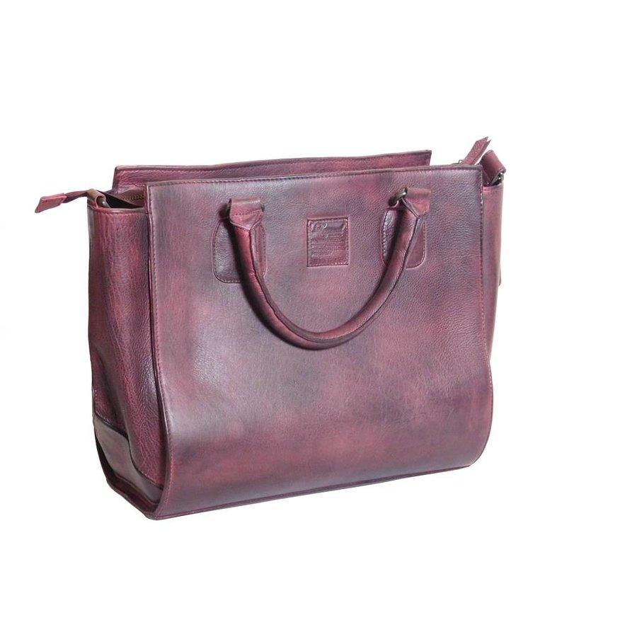 Bordeaux Leder Handtasche  *Vasto*-3