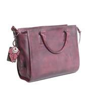 thumb-Bordeaux Leder Handtasche  *Vasto*-2