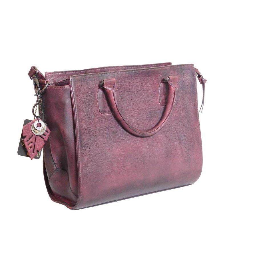 Bordeaux Leder Handtasche  *Vasto*-2