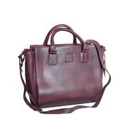 thumb-Bordeaux Leder Handtasche  *Vasto*-1