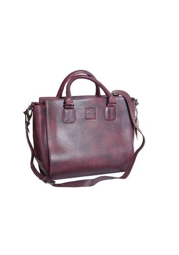 Legend Bordeaux Leder Handtasche  *Vasto*