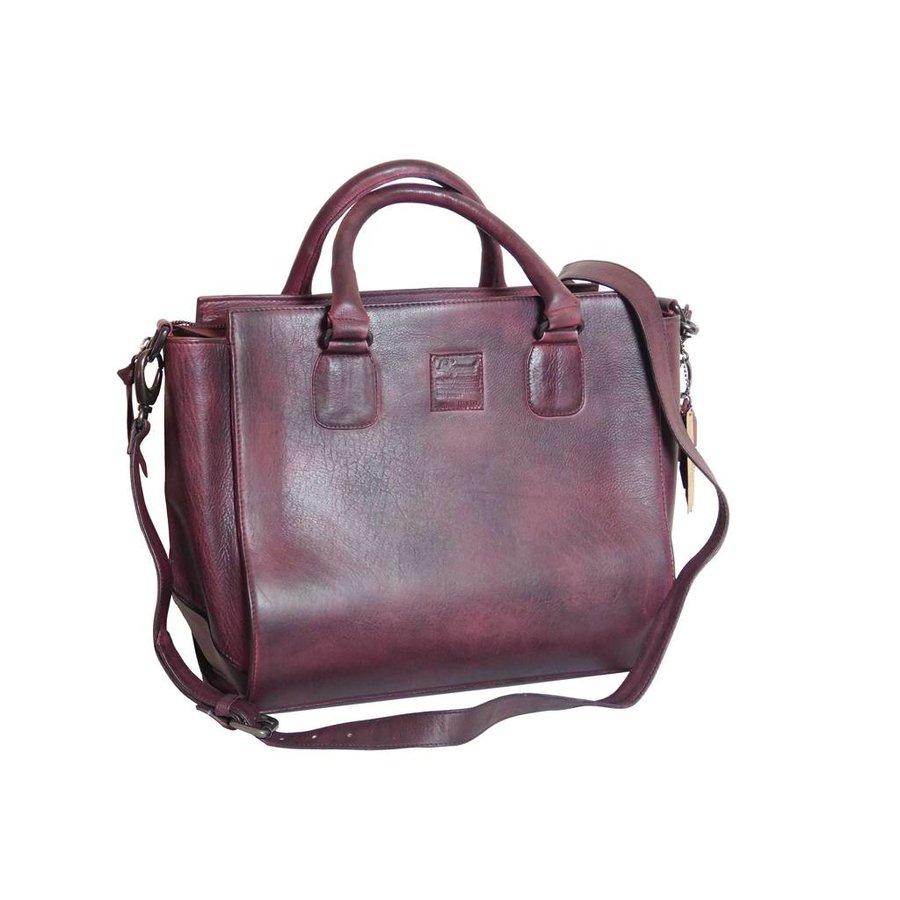 Bordeaux Leder Handtasche  *Vasto*-1
