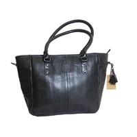 thumb-Große Schwarz Leder Handtasche  *Isola*-3