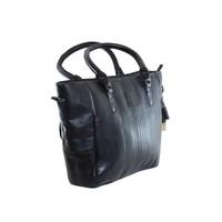 thumb-Große Schwarz Leder Handtasche  *Isola*-4