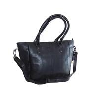 thumb-Große Schwarz Leder Handtasche  *Isola*-1