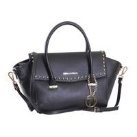 thumb-Große Schwarze Saffiano Eco-Leder Handtasche-1