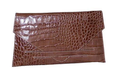 Made in Italia Braune Leder Clutches