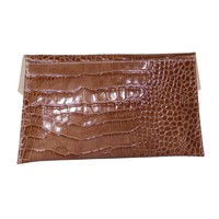 thumb-Braune Leder Clutches mit Croco Muster-2