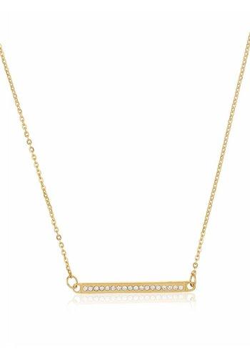 Torrente Schmuck  Goldfarbig Halskette mit Harz Steine