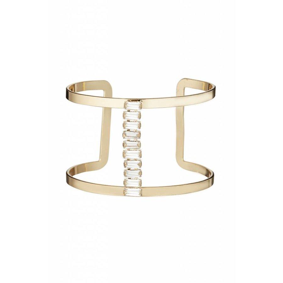 Goldfarbig Armband mit Harz Steine-1