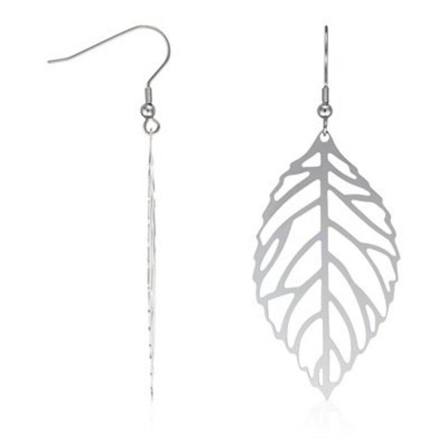 Silberfarbige Haken Ohrringe-1