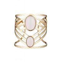 Goldfarbig/Hell Rosa Armband