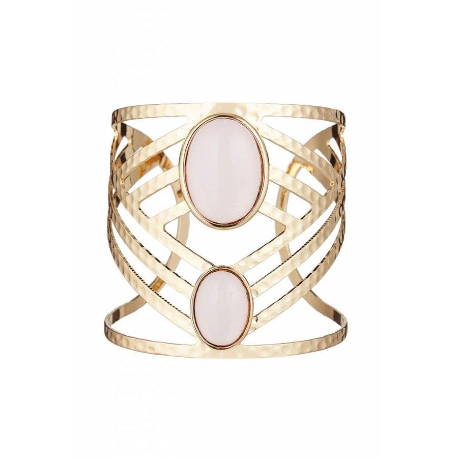 Goldfarbig/Hell Rosa Armband-1