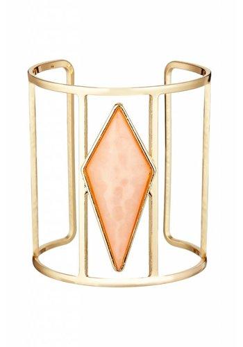 Torrente Schmuck  Goldfarbig/ Lachsfarbig Armband