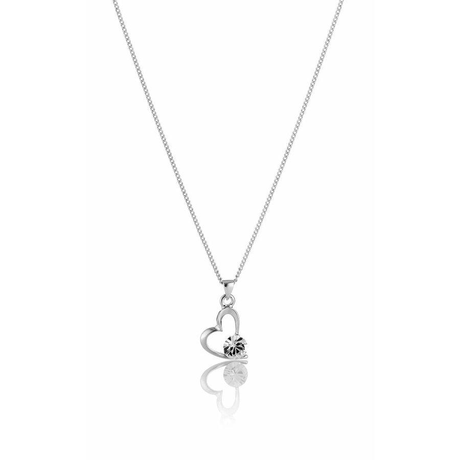 Feingliedrig Swarovski Element Halskette-1