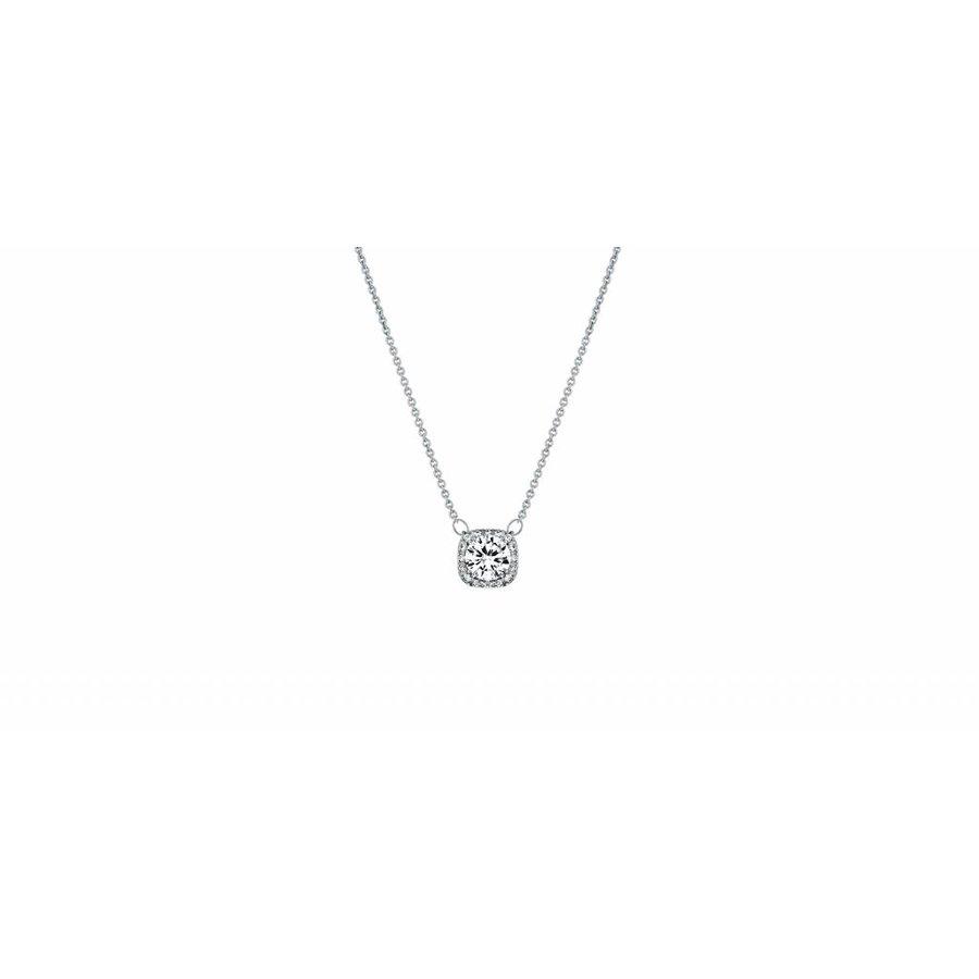 Feingliedrige Halskette mit Klarer Kristall-2