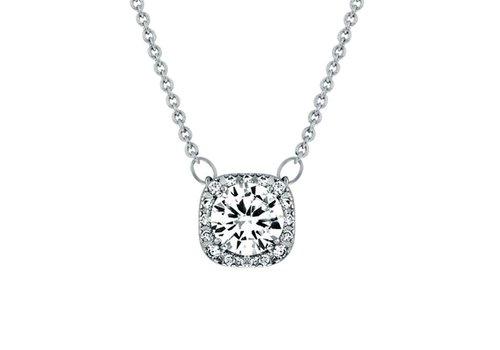 Diamond Style Feingliedrige Halskette mit Klarer Kristall