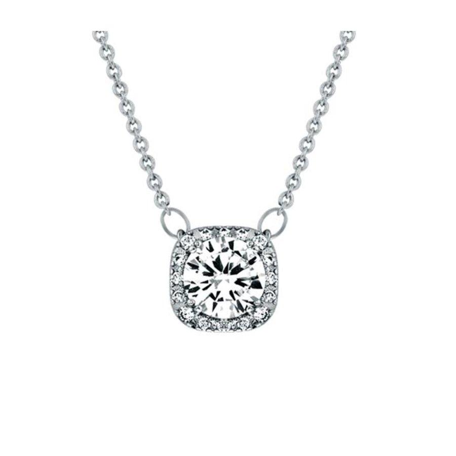 Feingliedrige Halskette mit Klarer Kristall-1