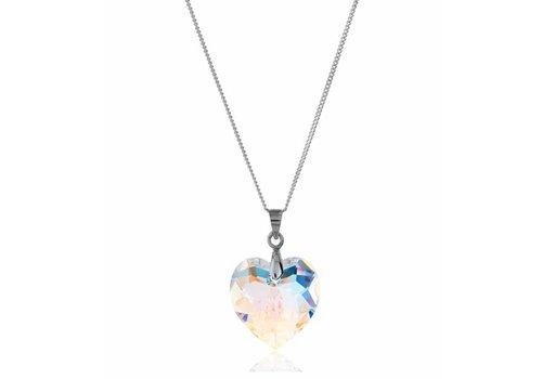 Diamond Style Sterling Silber Aurore Boreale Kristall Halskette