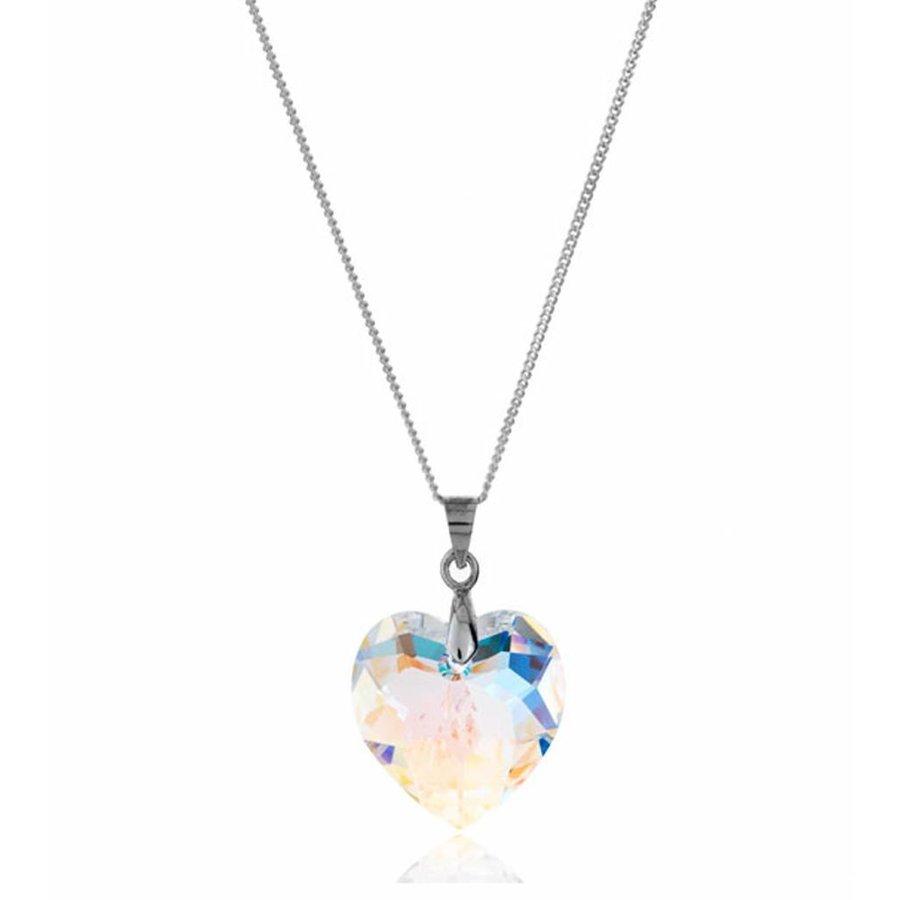 Sterling Silber Aurore Boreale Kristall Halskette-1