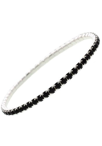 Diamond Style Black Kristall Armband