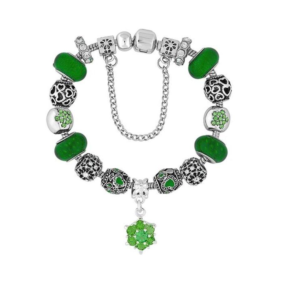 Bettelarmband mit Grünen Steine-2