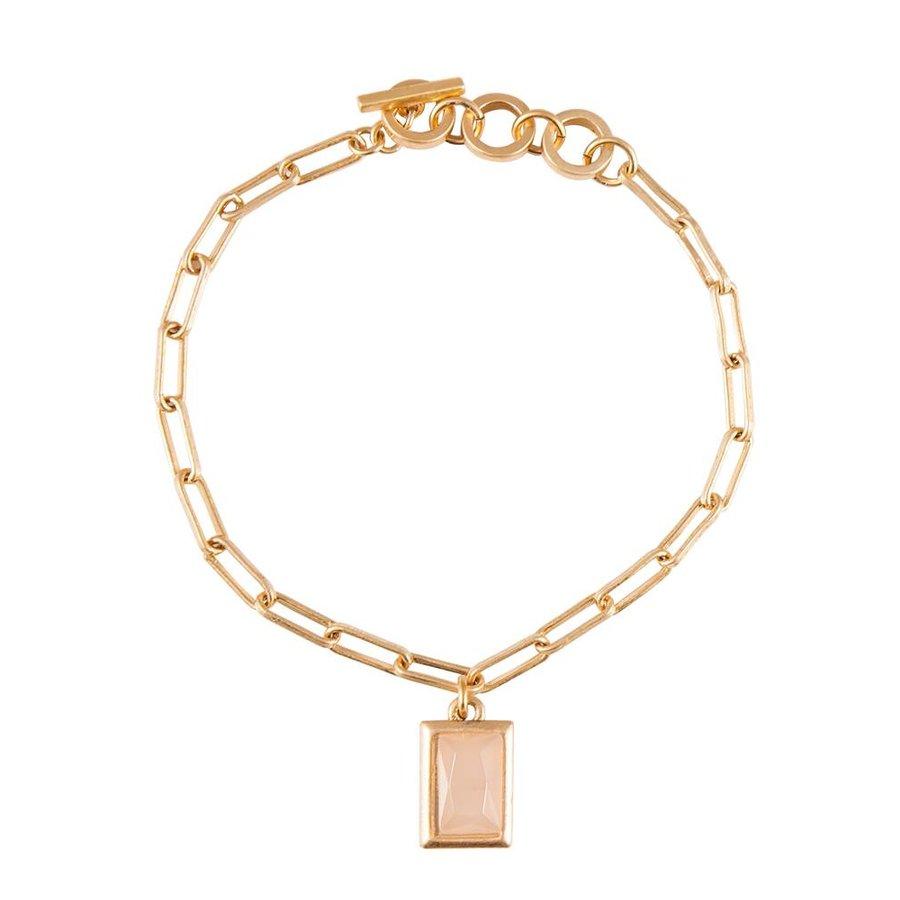 Rosé Vergoldet Swipe Glieder Armband-1