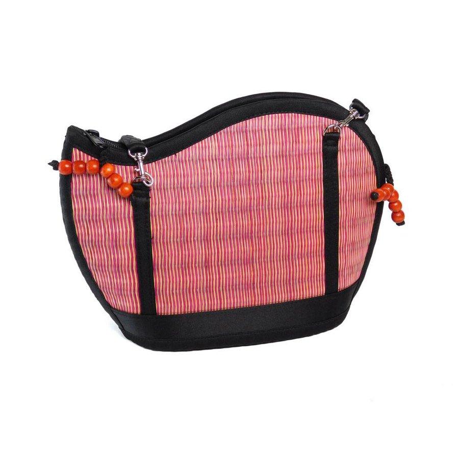 Pinke Seegras Handtasche Kiri Wave-1