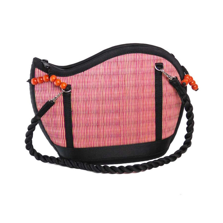 Pinke Seegras Handtasche Kiri Wave-2
