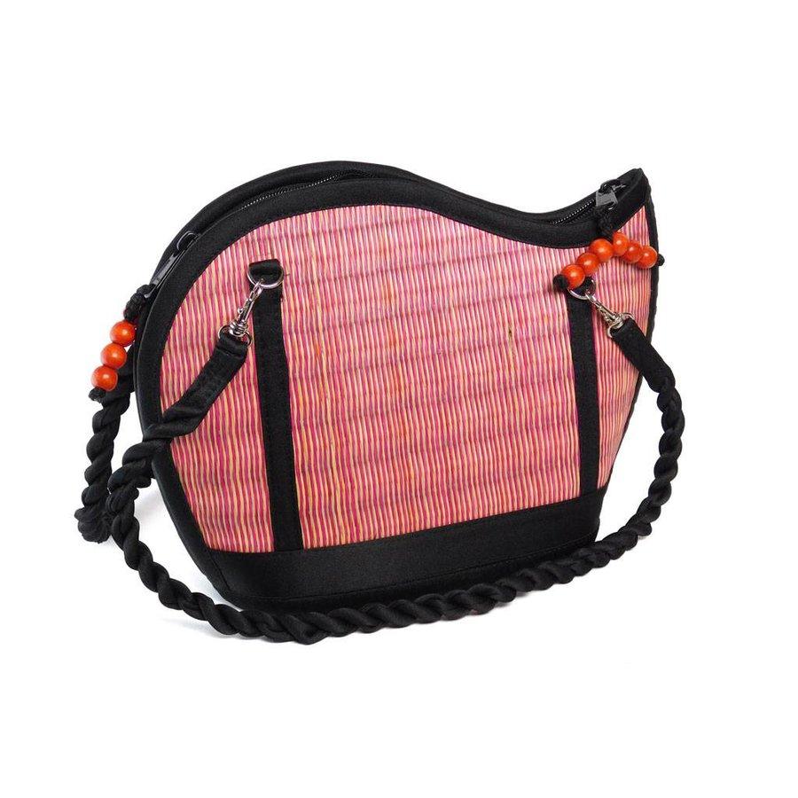 Pinke Seegras Handtasche Kiri Wave-3