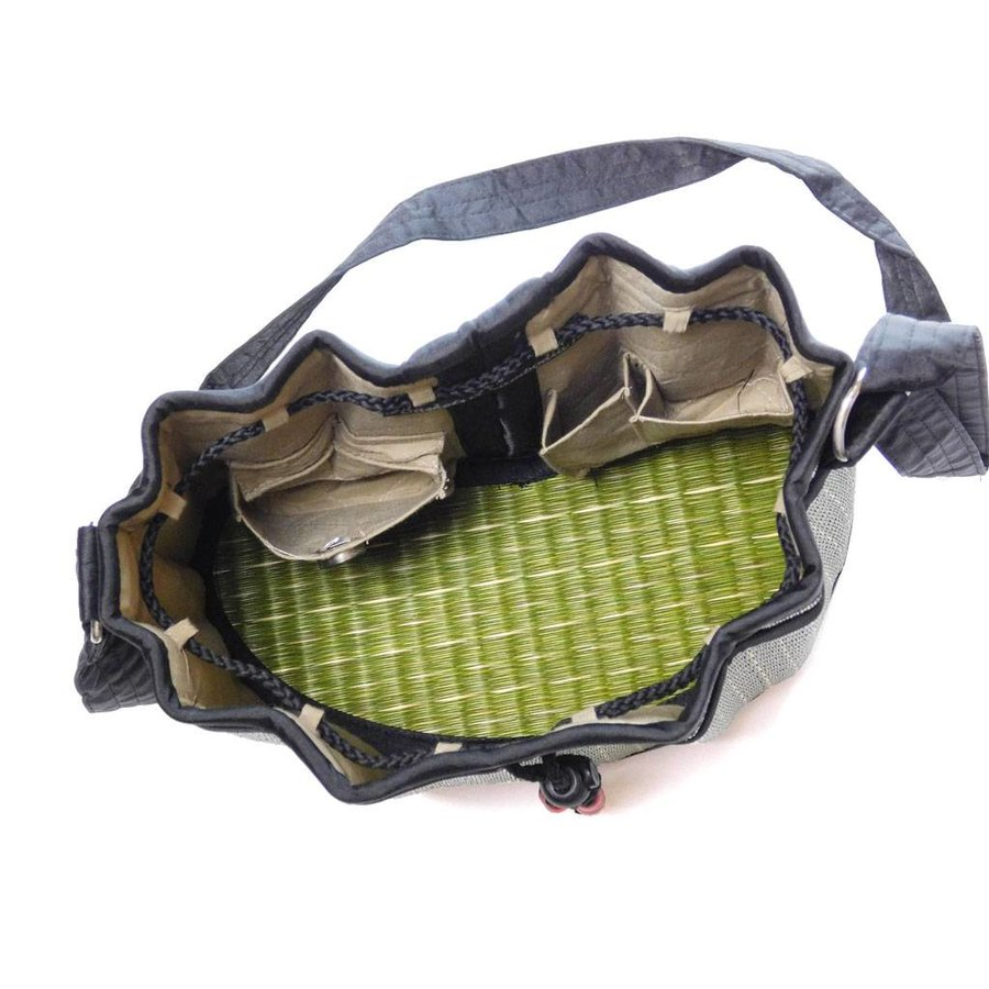 Grüne Seegras Umhängetasche Sophon-5