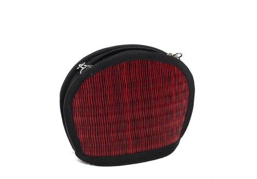 Saraye/mekhada Rote Seegras Mini Handtasche Clamshell