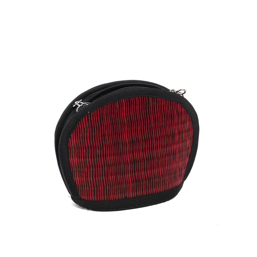 Rote Seegras Mini Handtasche Clamshell-1