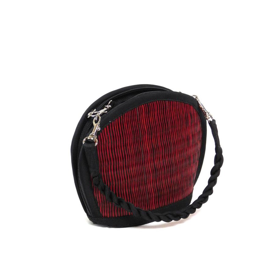 Rote Seegras Mini Handtasche Clamshell-2