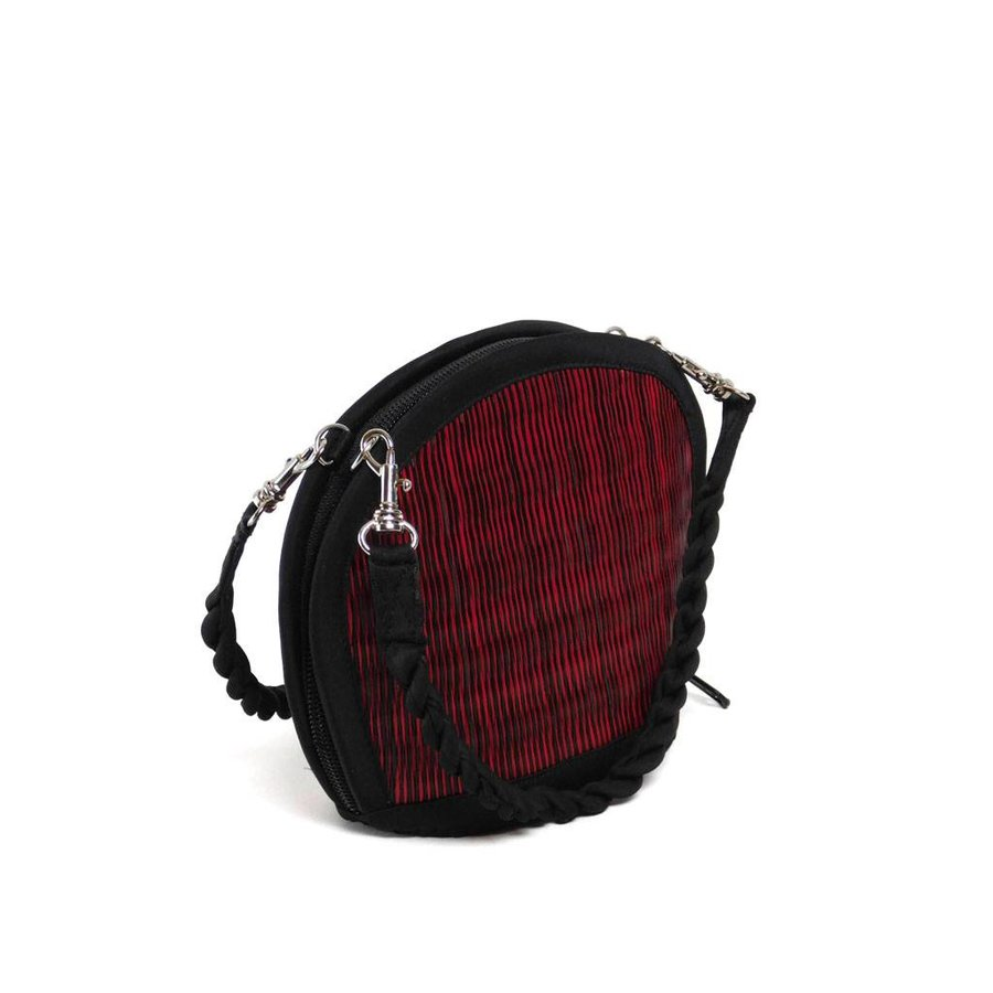 Rote Seegras Mini Handtasche Clamshell-3