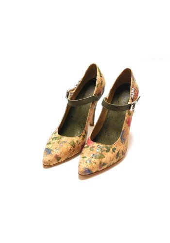 nahja Fashion in cork Pumps mit Blumenmuster *Amour*