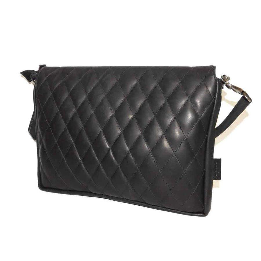 Schwarze Leder Handtasche *Demi*-2