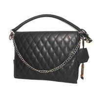 thumb-Schwarze Leder Handtasche *Demi*-1